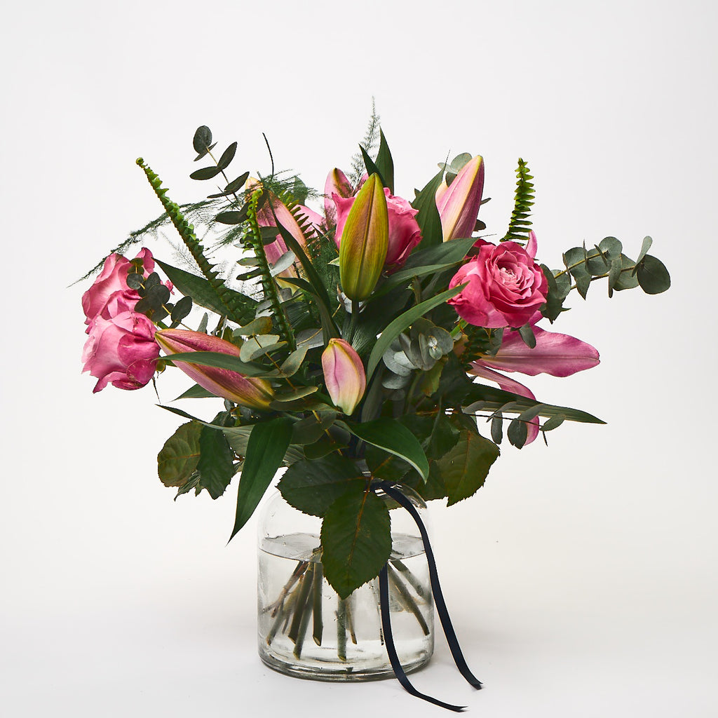Northern Flower House — Pink (Pink lilies / Pink roses / Eucalyptus / Ferns)
