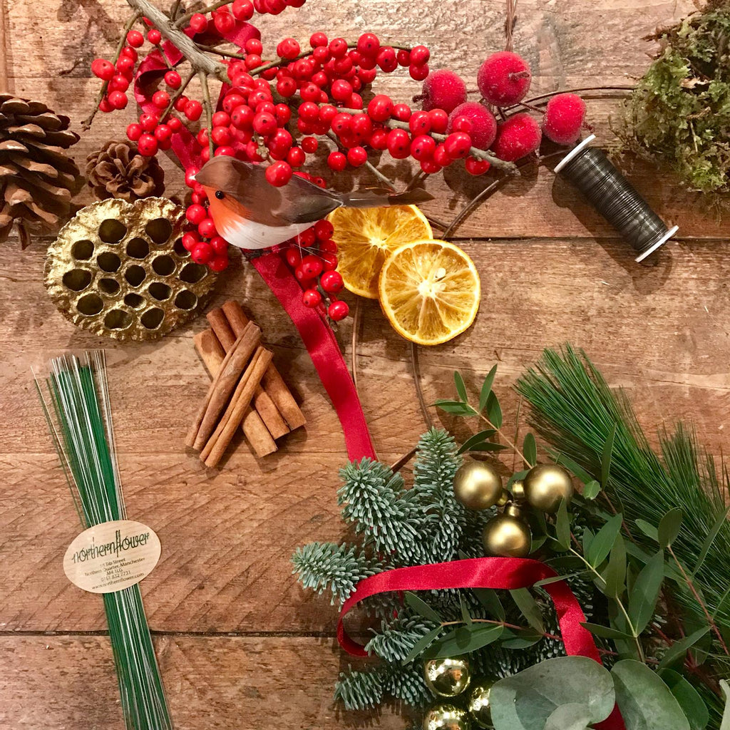 Traditional DIY Wreath Kit (Reds & Greens)