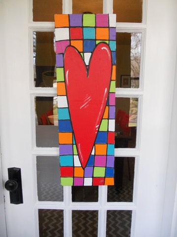 Colorful Door Heart