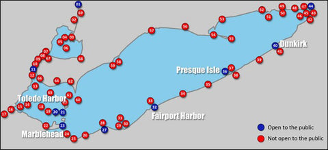 Lake Erie Lighthouses Map