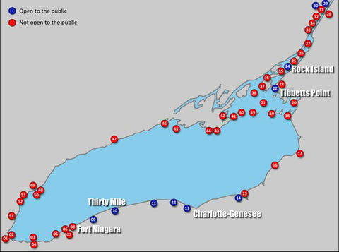 Lake Ontario Lighthouses Map