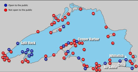 Lake Superior Map of Lighthouses