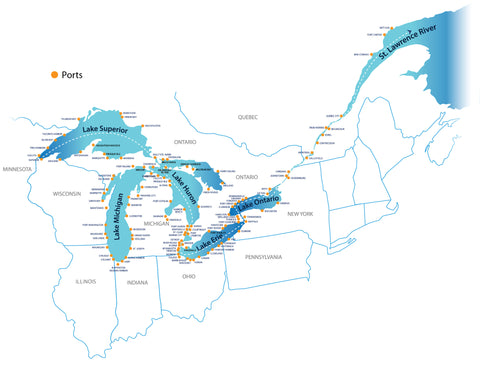 Great Lakes Shipping Navigation Ports