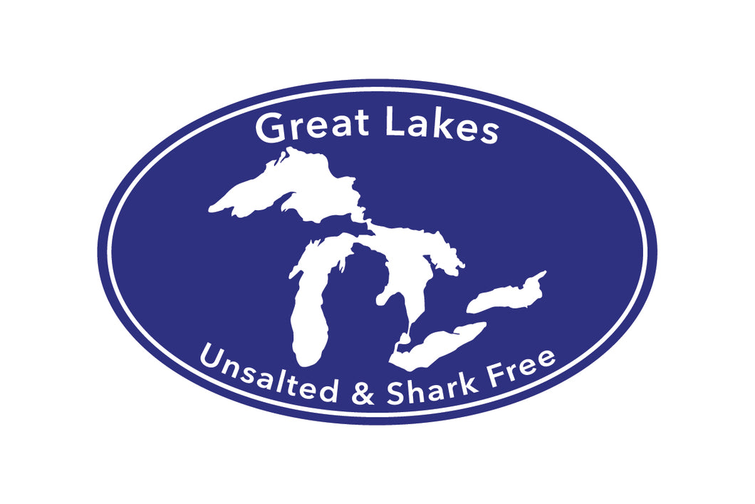 Great Lakes Proud Unsalted & Shark Free Sticker