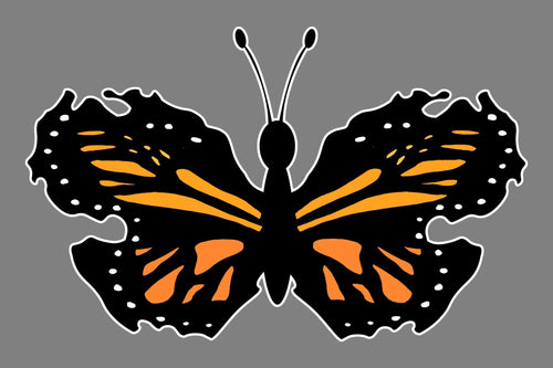 Mitten Monarch Butterfly Sticker