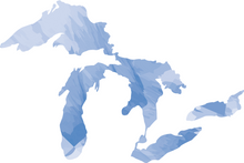 Great Lakes Watercolor Sticker
