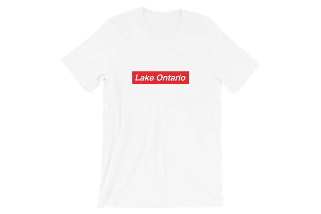 Lake Ontario Red Short-Sleeve Unisex T-Shirt