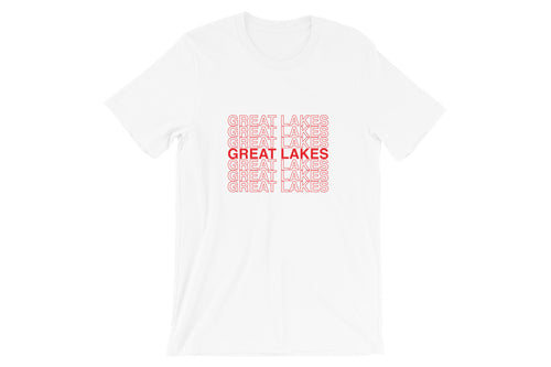 Great Lakes Red Stacked Short-Sleeve Unisex T-Shirt