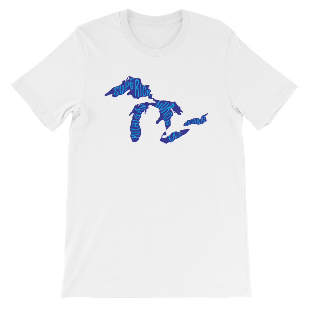 Great Lakes Proud Lake Names Unisex T-Shirt