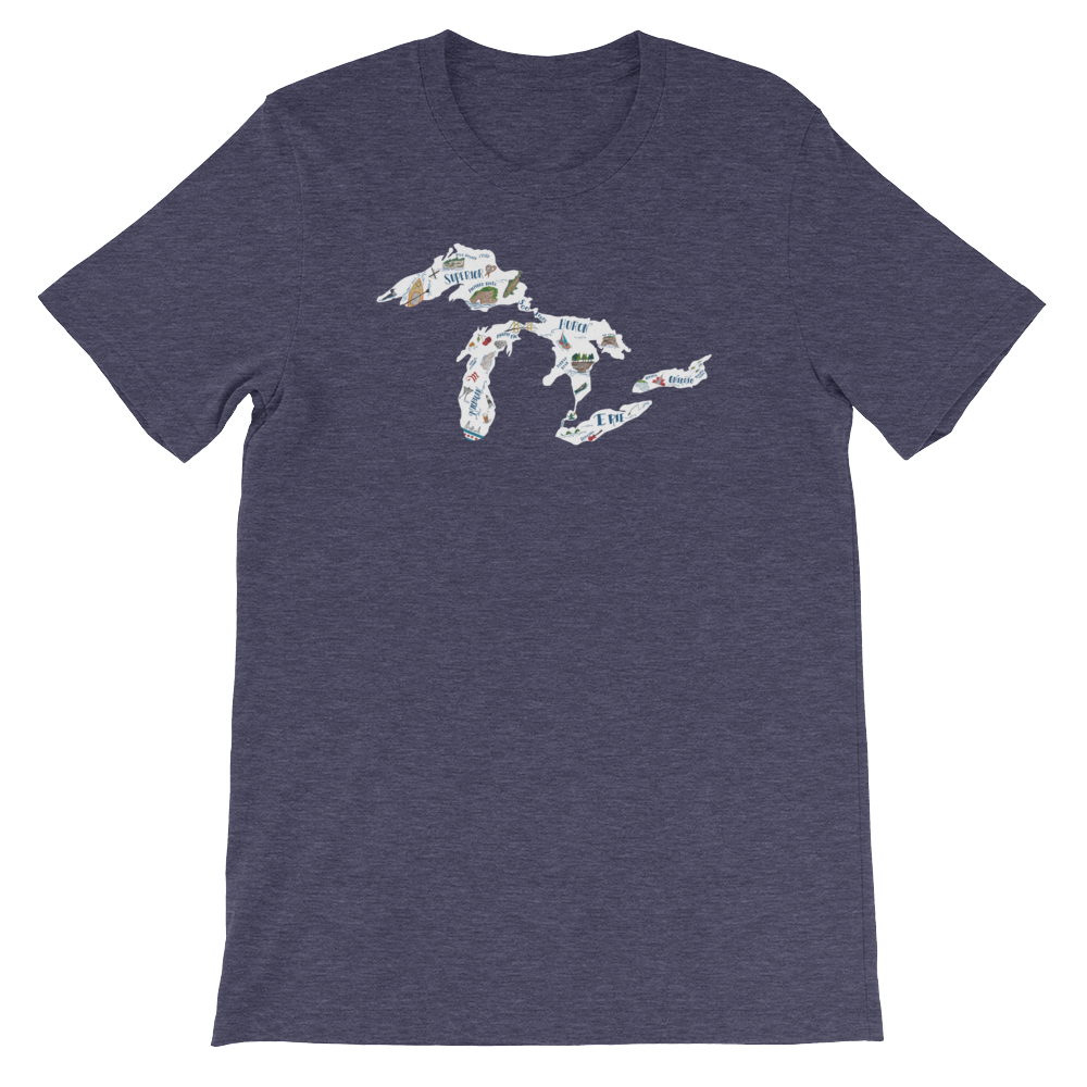 Great Lakes Proud My Lakes Unisex T-Shirt