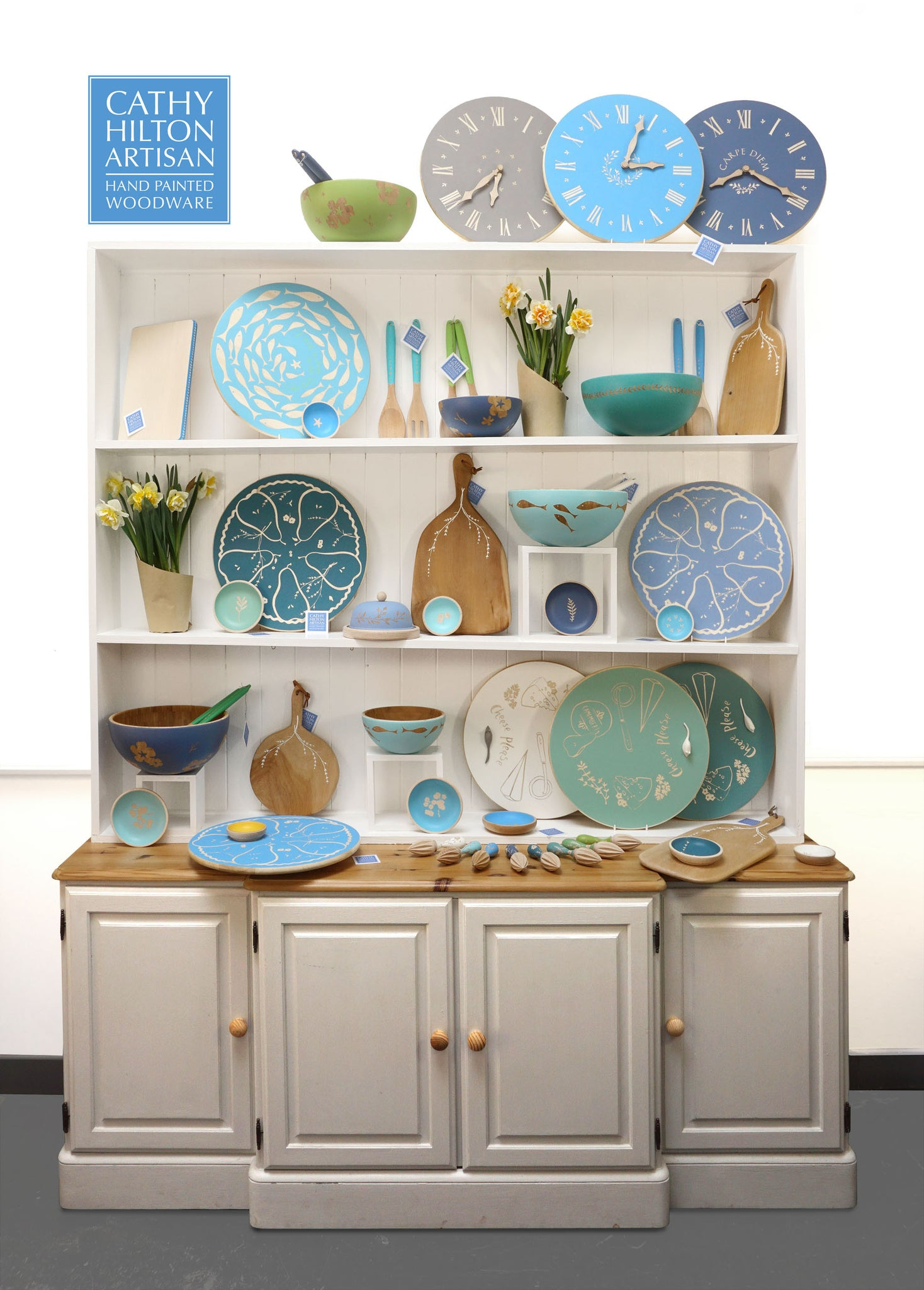 Cathy Hilton Artisan Hand Painted Woodware Collection