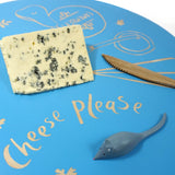 Cathy Hilton Artisan Hand Painted Woodware Cheeseboard with Mouse