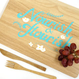 Cathy Hilton Artisan Hand Painted Woodware Snack Board Nourish & Flourish