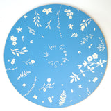 Cathy Hilton Artisan Hand Painted Woodware Personalised Lazy Susan Hedgerow