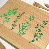 Cathy Hilton Artisan Hand Painted Woodware Snack Board Herbs
