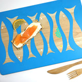 Cathy Hilton Artisan Hand Painted Woodware Snack Board Fish