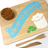 Cathy Hilton Artisan Hand Painted Woodware Snack Board Who Ate all the Pies