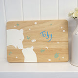 Cathy Hilton Artisan Hand Painted Woodware Snack Board Bears