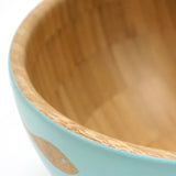 Cathy Hilton Artisan Hand Painted Woodware Large Bamboo Serving Bowl Shoal