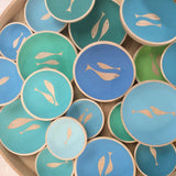 Hand Painted Beech Wood Fishy Dishes