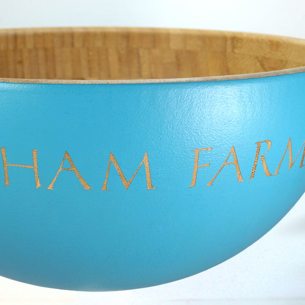Large Hand Painted Bamboo Serving Bowl ~ Personalised with a Housename