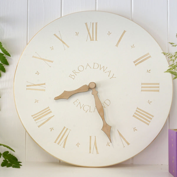 Cathy Hilton Artisan Hand Painted Woodware Personalised Clock
