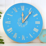Cathy Hilton Artisan Hand Painted Woodware Clock Wreath