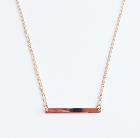 Gold Fill Fine Bar Necklace