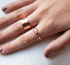 Stack Ring - Twisted Yellow Gold / Rose Gold