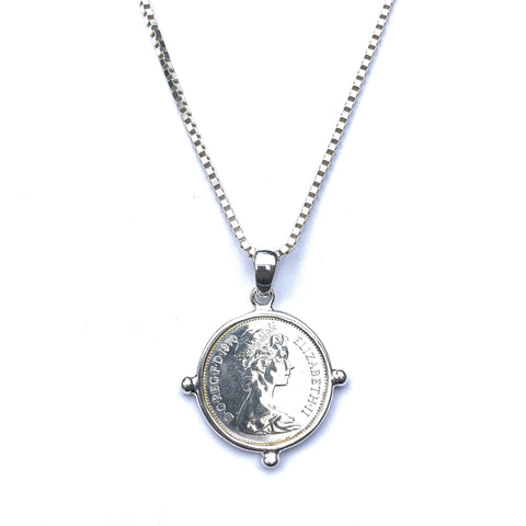 Petite Box Chain & Coin Necklace