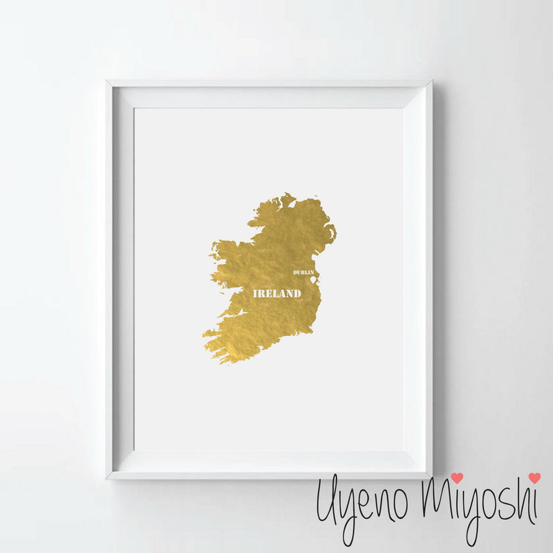 Map - Ireland and Northern Ireland