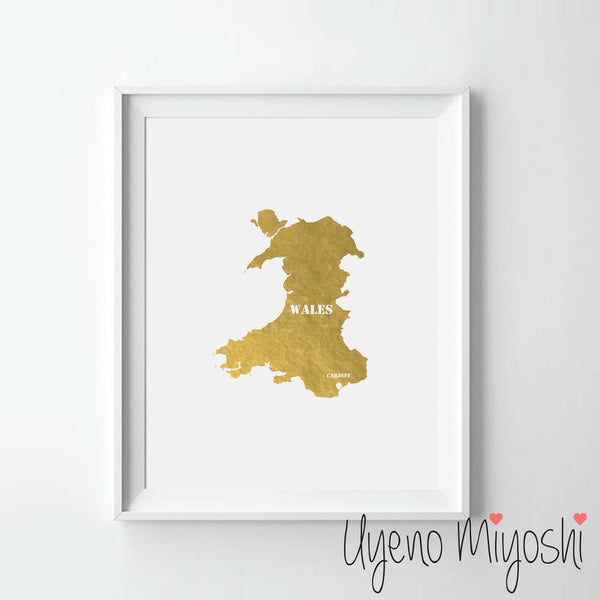 Map - Wales