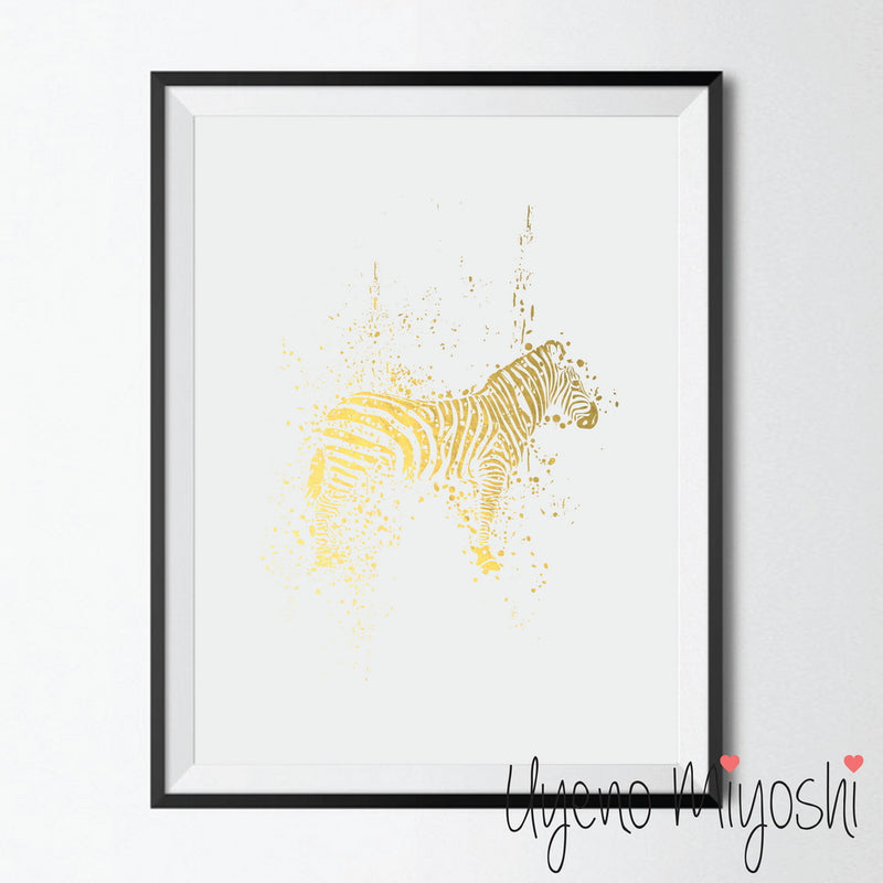 Zebra Ink Splash