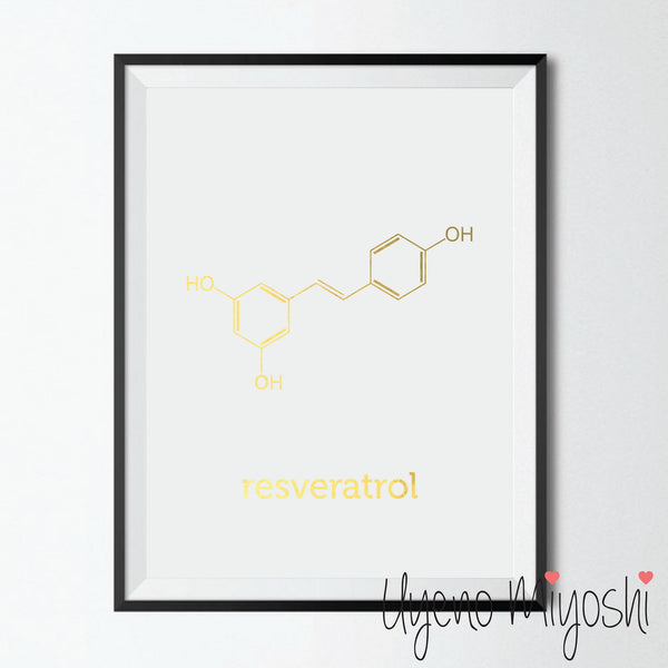 Chemical Molecule - Resveratrol (Red Wine)