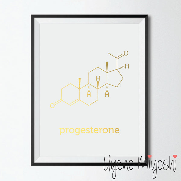 Chemical Molecule - Progesterone