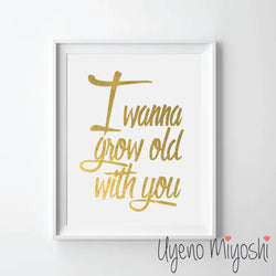 I Wanna Grow Old with You