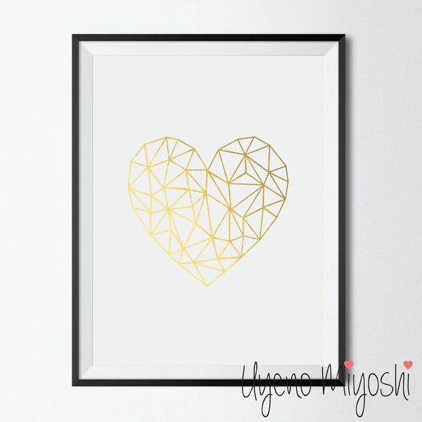 Geometric Polygonal Heart