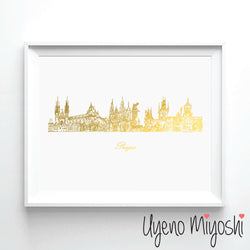 Prague Skyline Sketch