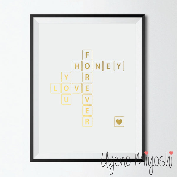 Crossword Puzzle - I Love You Forever Honey I
