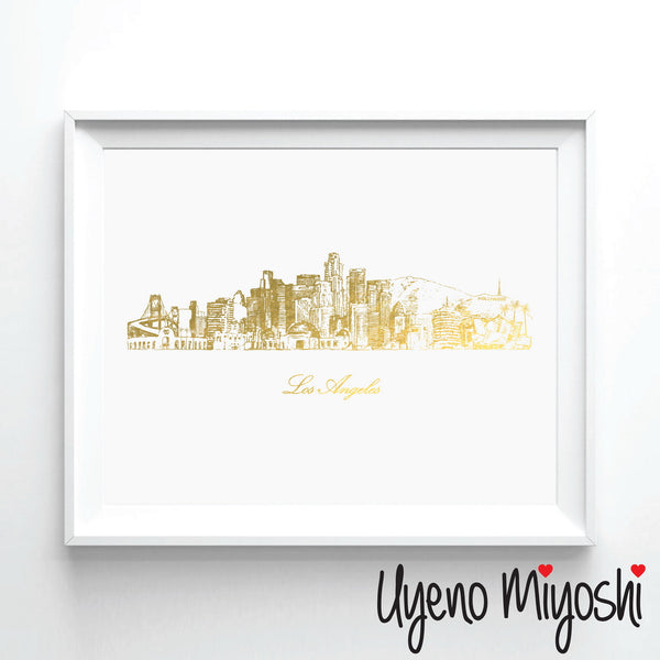 Los Angeles Skyline Sketch I