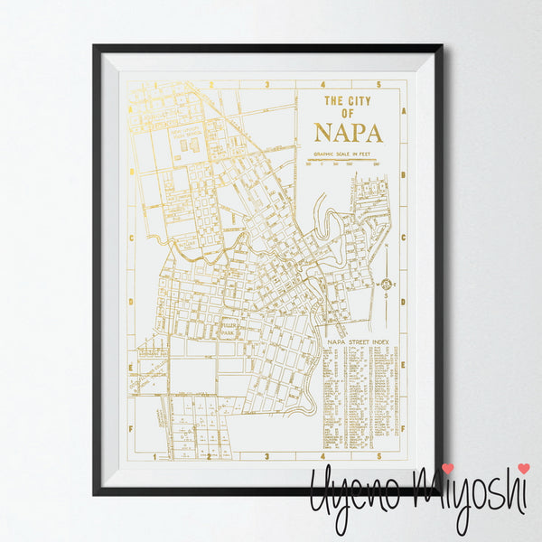 Napa Valley Street Map