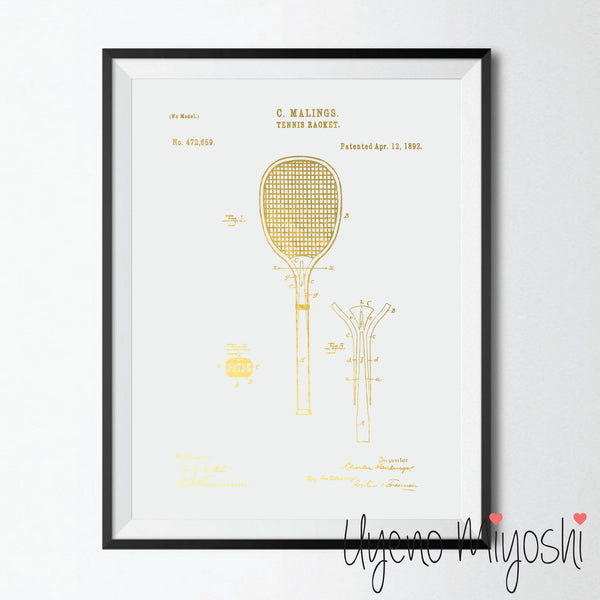 Patent - Tennis Racket