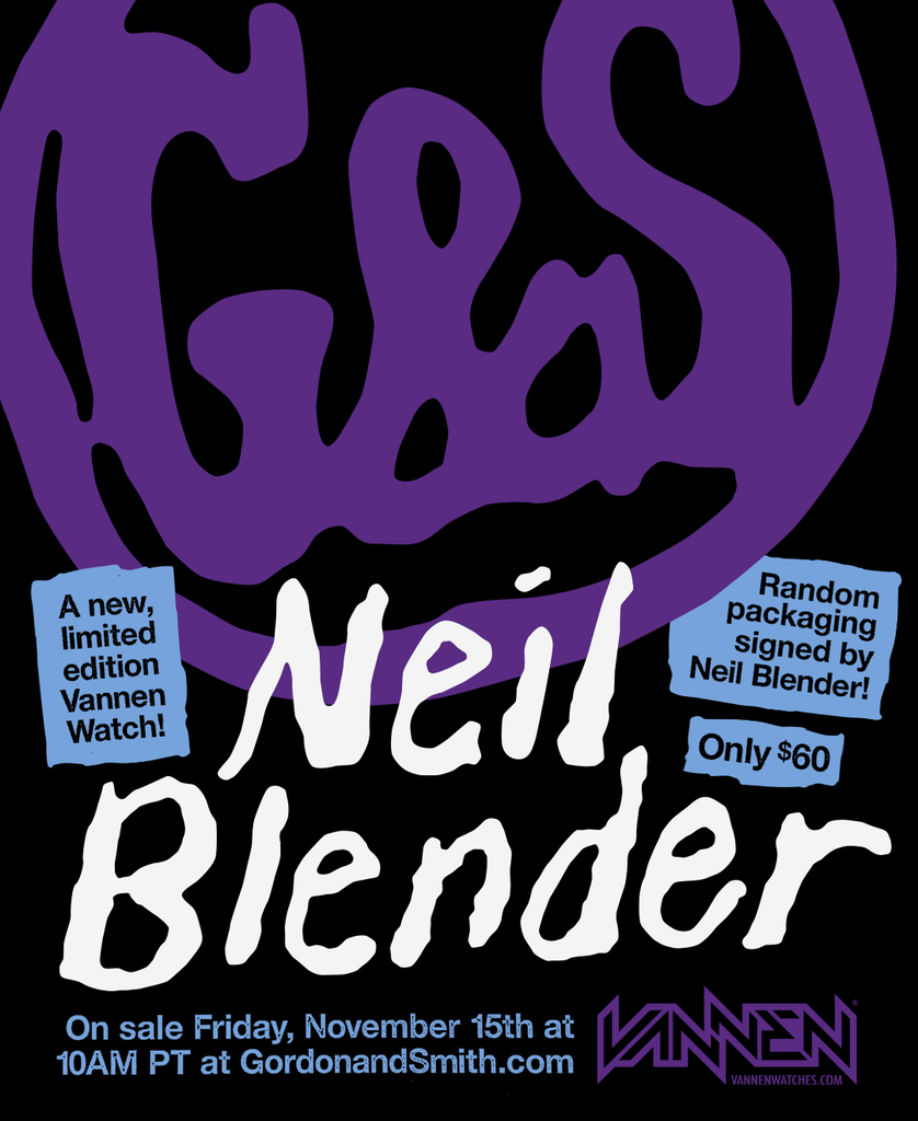 Limited edition G&S x Neil Blender x Vannen Watch announcement