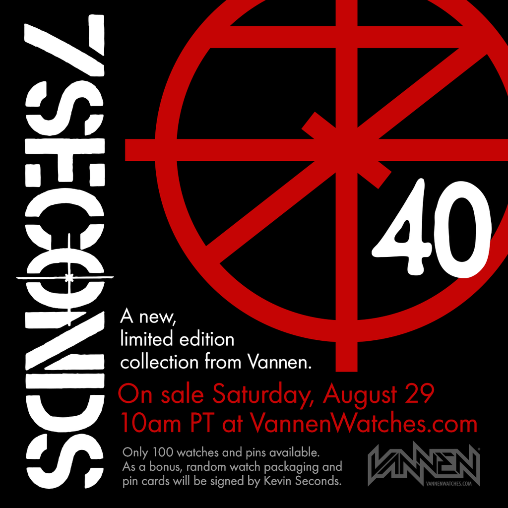 7 Seconds x Vannen watches announcement