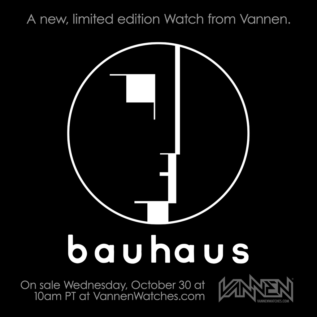 Bauhaus x Vannen Watches Announcement