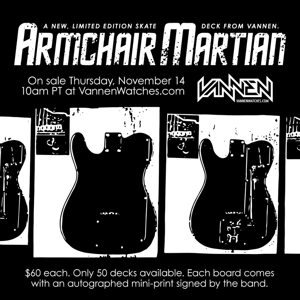 Armchair Martian Skate Deck Announcement