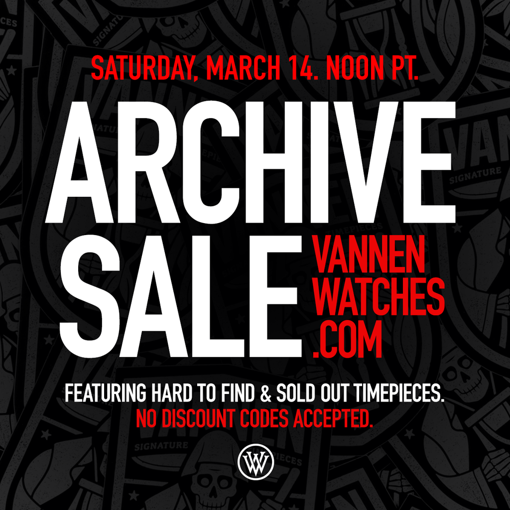 Vannen's Annual Archive Sale