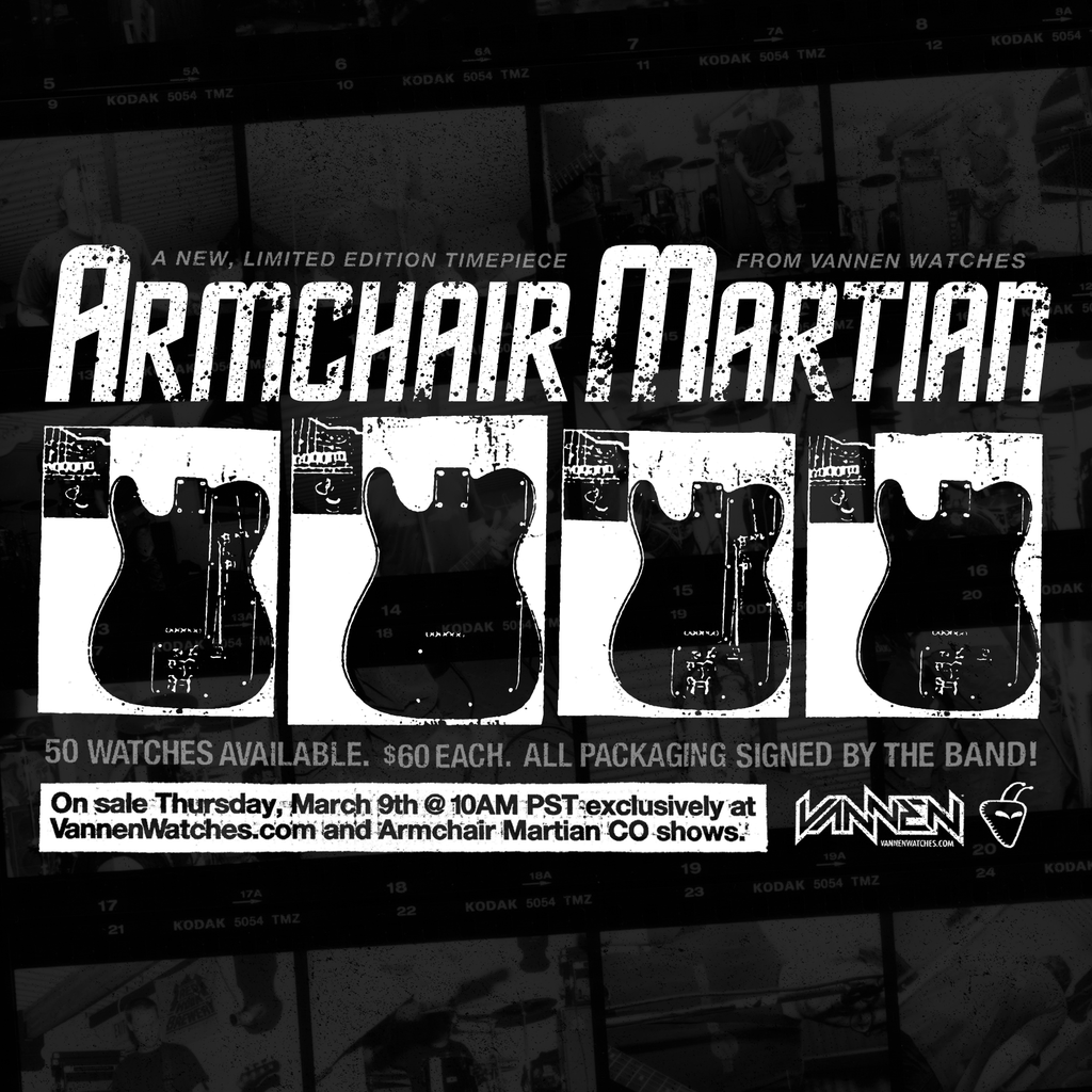Armchair Martian Vannen Artist Watch Announcement