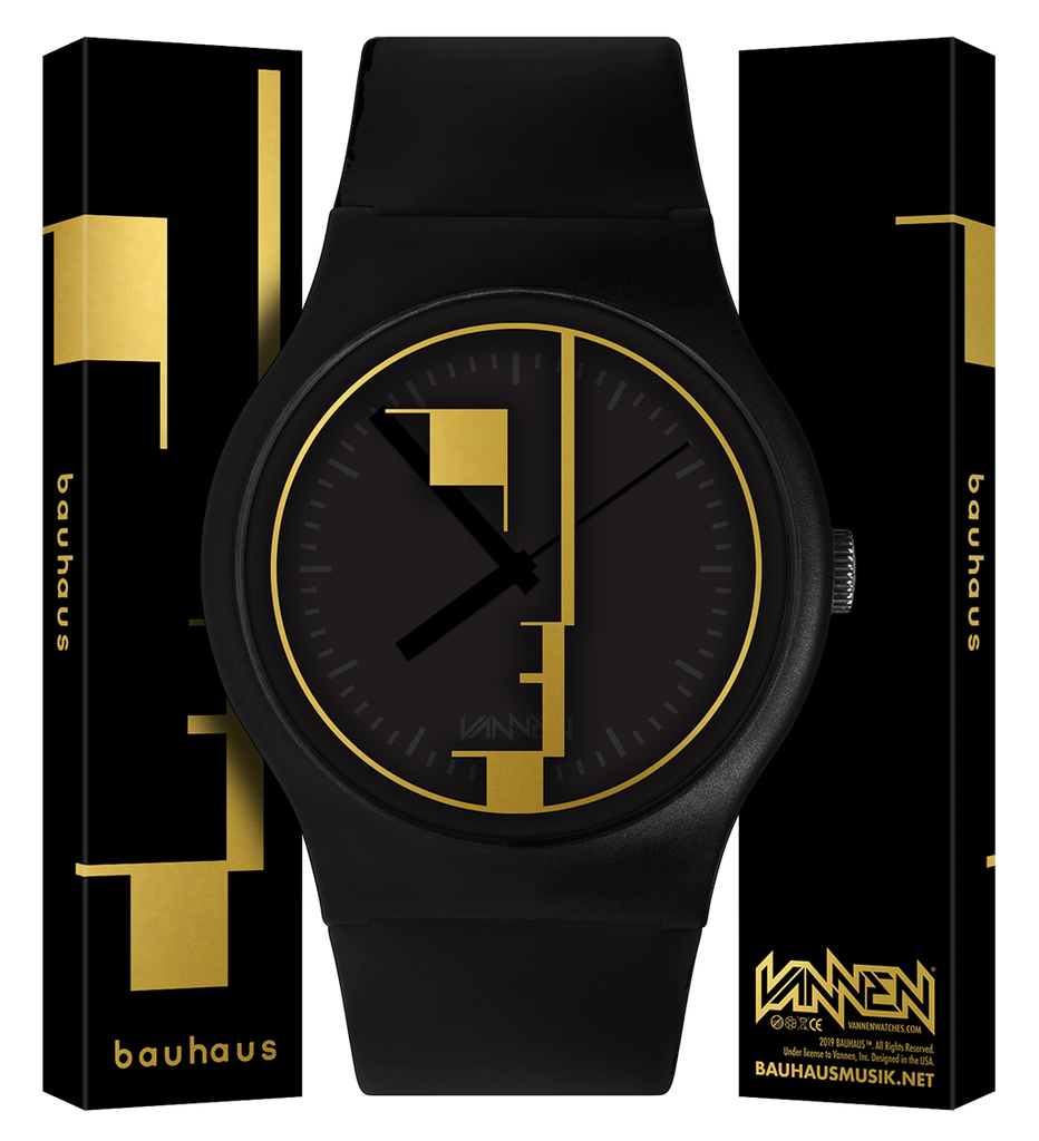 The new, gold and black Bauhaus Vannen Watch