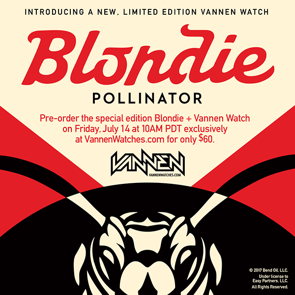 Limited edition Shepard Fairey x Blondie x Vannen Artist Watch